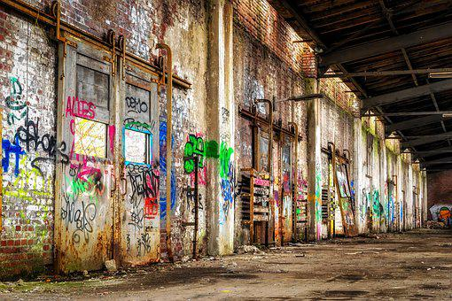 Lost Places, Space, Stock, Hall, Goal, Slide, Pforphoto