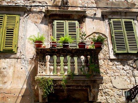 South, Balcony, Old House, Croatia