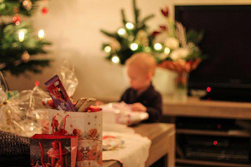 Christmas, Gifts, Child, Unpack, Decoration