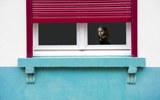 Girl, Window, Annoyed, Angry, Upset, Mad, Surprised