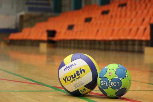 Ball, Volleyball, Handball, Training, Goal, Hall