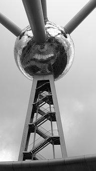 Brussels, Bol, Building, Ball, Science, Atomium