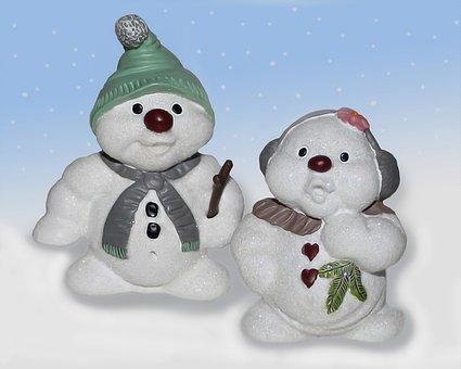 Snowmen, Snowman, Snekone, Boy, Girl, Couple, Snow