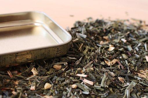 Tee, Open, Tea Caddy, Lid, Herbs, Fresh, Brew, Warm