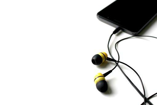 Mobile Phone, Cable, Headphones, Jack Plug, Plug