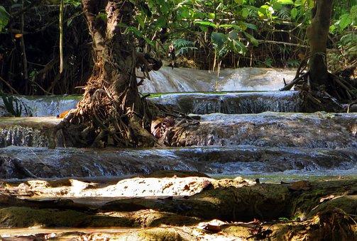 Laos, If Kwang, Cascade, Fall, Waterfall, Waterfalls