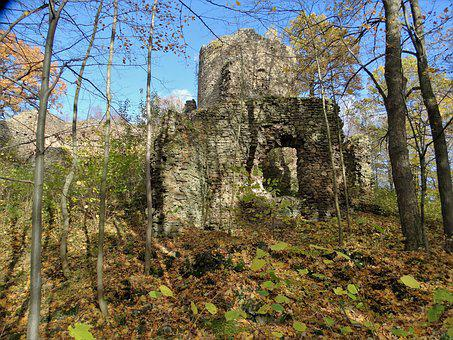 Castle, The Ruins Of The, Monument, Poland, Castle Yew