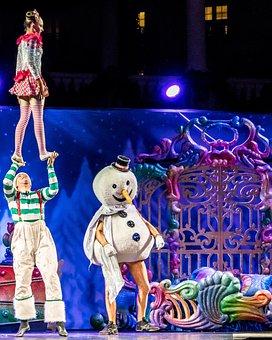 Acrobats, Cirque Du Soleil, Stunt, Christmas Show
