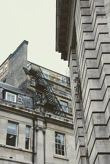 London, Homes, External Staircase, Fire Escape, City