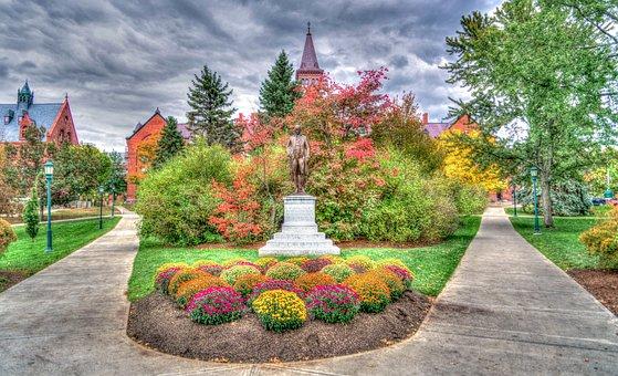 University Of Vermont, Fall, Foliage, Burlington