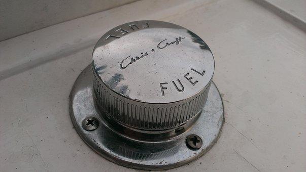 Chris Craft, Fuel Cap, Chrome, Screw, Fuel, Petrol