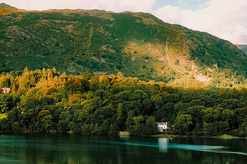Grasmere, England, Great Britain, Mountains, Fall