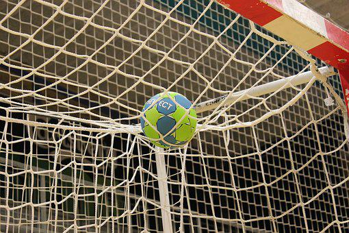 Ball, Handball, Training, Goal, Hall, Halgulv