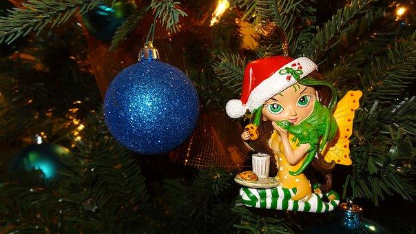 Xmas Tree, Fairy, New Year, Angel, Holiday, Decoration