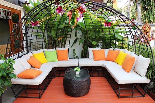 Seating, Patio, Furniture, Outdoor, Home, House, Garden