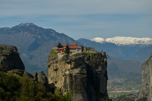 Meteor, Greece, Monastery, Nature, Landscape