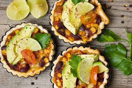 Mexican, Avocado, Lime, Mini, Tartelette, Tart