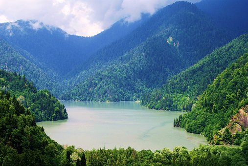 Nature, Lake, The Caucasus, Mountains, Altai, Landscape