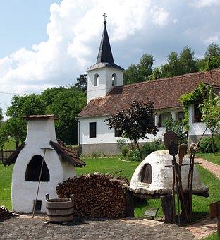 Baranya, Orfű, Oven Courtyard, Furnace, Church, Stump