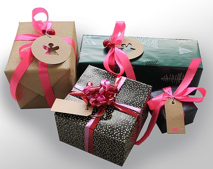 Gifts, Gift, Tape, Packages, Skøjfe, Surprises