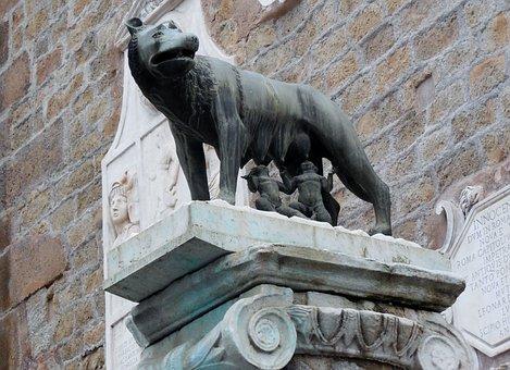 Romulus, Remus, Capitoline Wolf, Rome