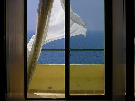 Sea, Sun, Dahl, View From The Window, Sunny, Water
