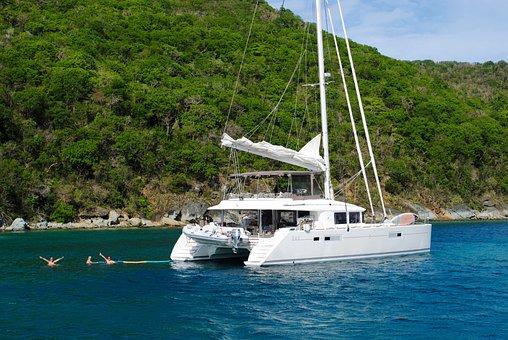 Caribbean, Catamaran, Grenadines, Canouan, Sea, Travel