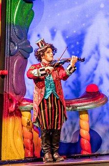 Violinist, Performer, Cirque Du Soleil, Christmas Show