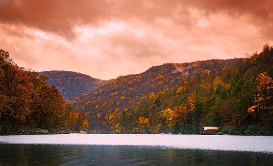 Cheat Lake, West Virginia, Water, Reflections, Sunset