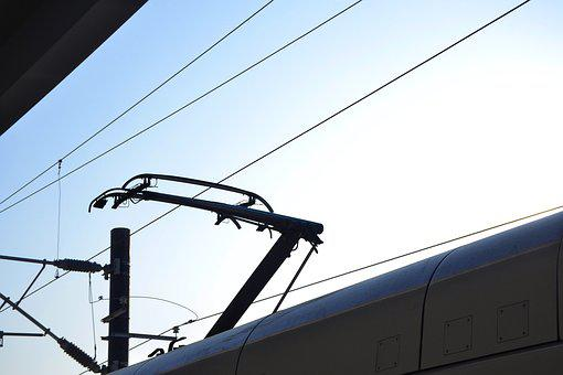 Silhouette, Pantograph, Train Crash, Winter