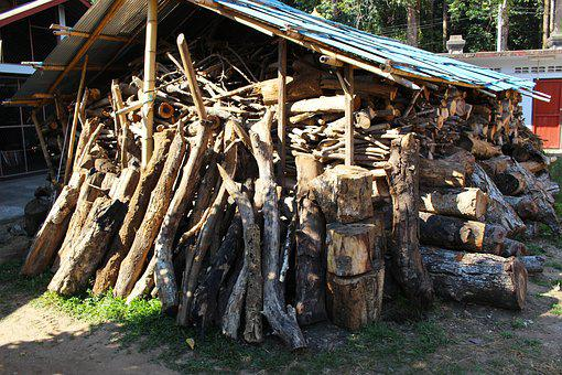 Wood Shed, Wood Pile, Wood, Pile, Shed, Firewood