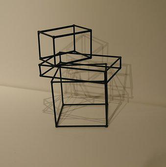 Cubism, Art, Abstract, Decorative, Metal Framework