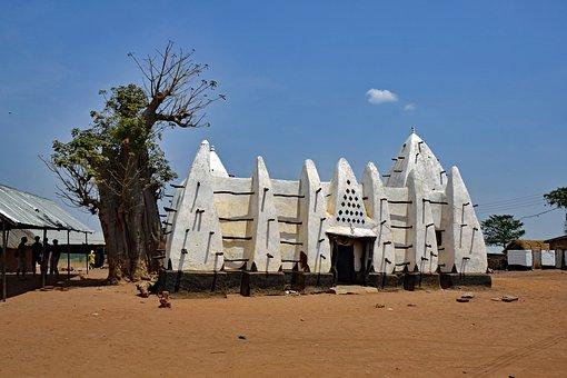Lara Banga, Ghana, Mosque, Adobe, History