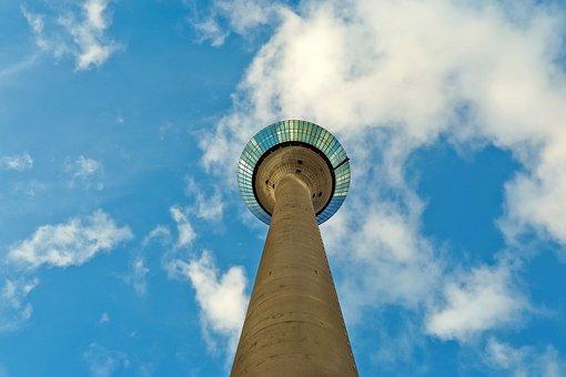 Architecture, Tv Tower, Düsseldorf, Landmark, Sky