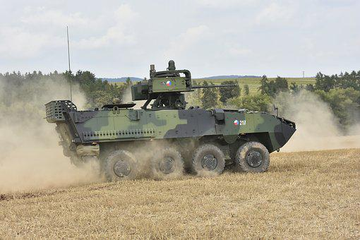 Pandur, In Motion, Czech Army, Army