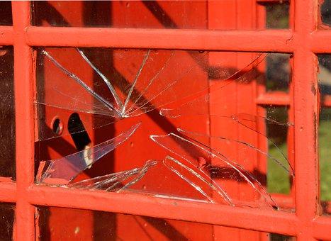 Broken Glass, Glass, Broken, Destruction, Destroyed