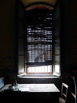 Window, Chiaroscuro, Blind, Bars, Desktop, Symbol