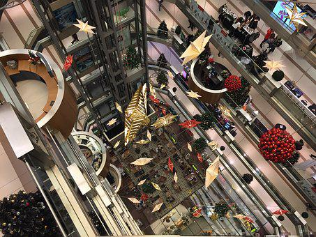 Christmas, Shoping Center, Store, Shopping, Decor
