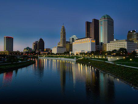 Columbus, Ohio, City, Urban, Buildings, Skyscrapers