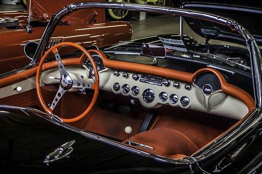 Chevy, Chevrolet, Corvete, Classic, Vintage