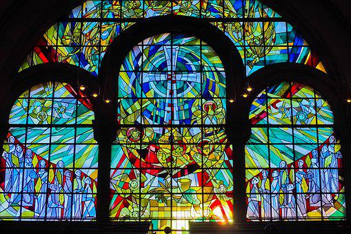 Church, Church Window, Window, Shine Through, Color