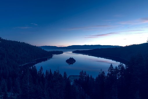 Emerald Bay, Lake Tahoe, California, Water, Reflections