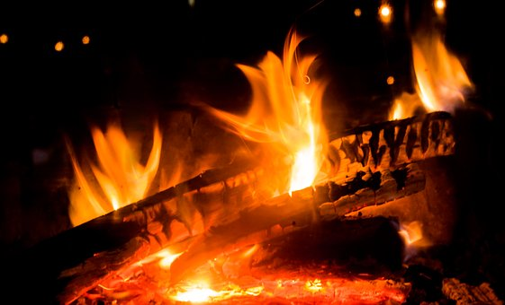 Fire, Flame, Fireplace, Burn, Beautiful, Flame Log Fire