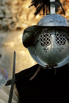 Gladiator, Warrior, Helmet, Soldier, Roman, Ancient