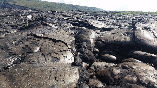 Hawaii, Lava Flow, Barren, Rock