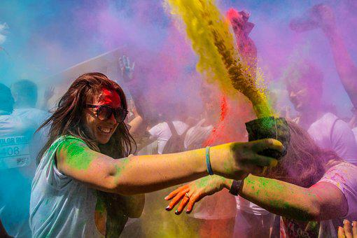 People, Color, Colors, Hilarity, Cant, Running