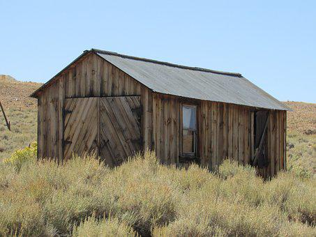 Bodie, California, Mining, Decay, Barn, Old, Historical