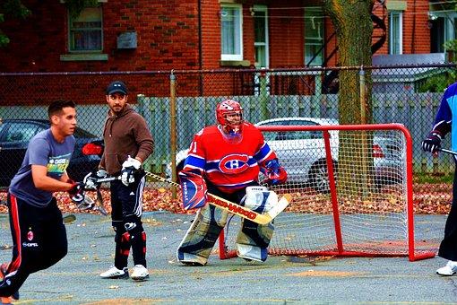 Hockey, District, Montréal, Street, Game, Canada, Sport