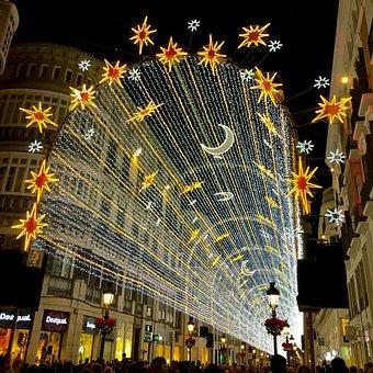 Malaga, Christmas, Iluminaciónn, Show, Street Larios