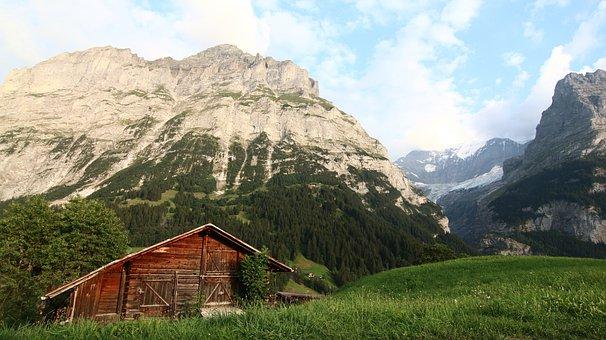 Alps, Icecap, Eiger, Interlaken, Snow Mountain